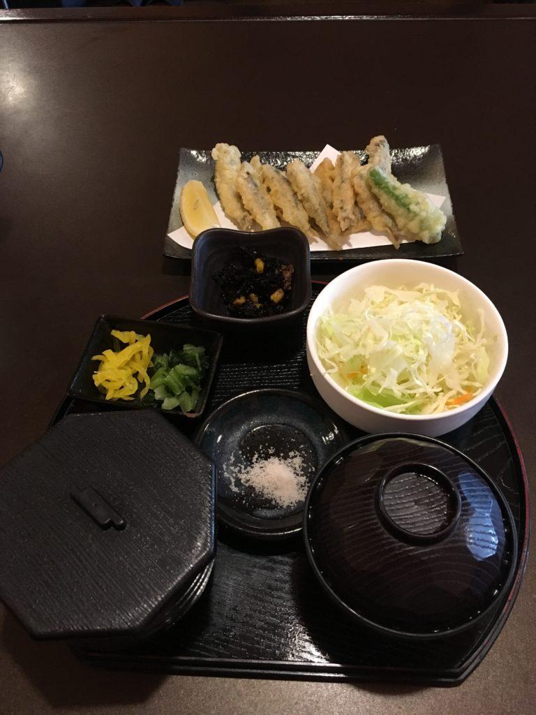 小鰯天ぷら定食