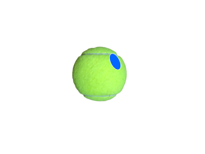 サービス ボールの触り方